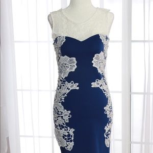 Venus blue lace mini dress, Size 2 XS
